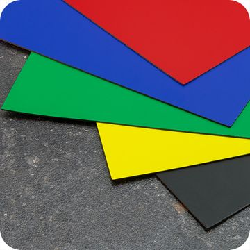 Coloured Magnetic Sheets