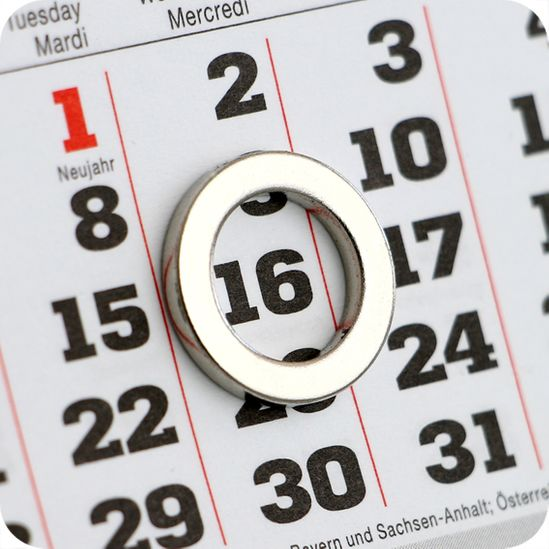 Ring Magnet as Date Indicator